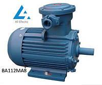 Взрывозащищенный электродвигатель ВА112МА8 2,2кВт 750об/мин
