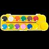 Фарби аквар. 12 кол., пласт./кор., з/п., жовтий