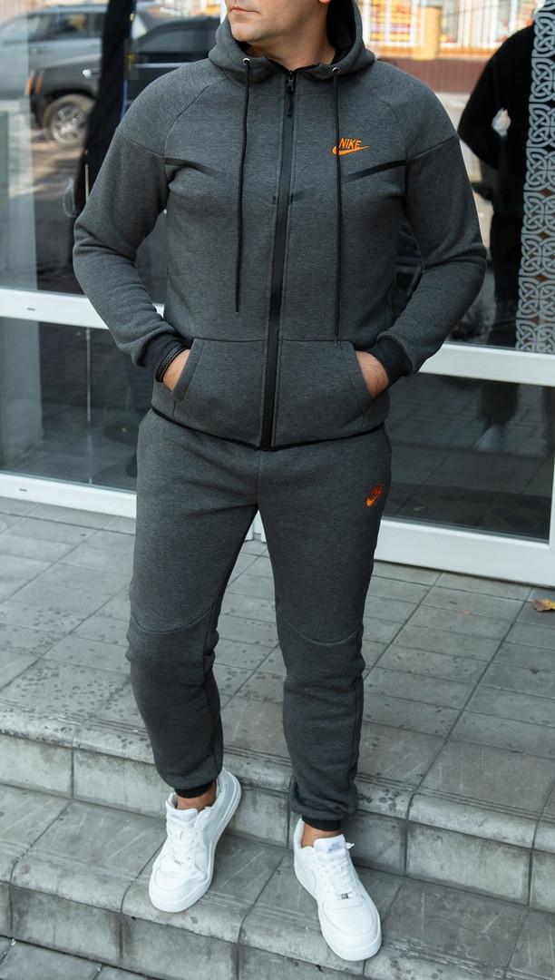 Спортивный костюм Nike. Мужской утепленный спортивный костюм. ТОП качество!!!Реплика.