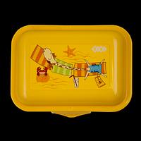 Контейнер для їжі, 138 *104*54мм, жовтий