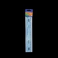 Лінійка пластикова 20 см SMART, тонована, асорті, в блістері