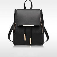 Рюкзак женский стильный, чёрный ( код: IBR007B )