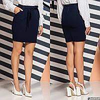 Короткая женская юбка с поясом, фото 1