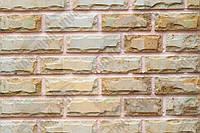 Плитка Руст песчаник Старый город KLVIV ширина 6 см., лицевая сторона скол/лицо спил 0.5 м.кв., фото 1