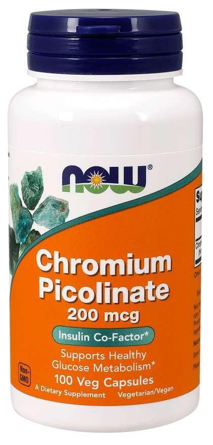Блокатор жиров Now Foods - Chromium Picolinate 200 мкг (100 капсул)