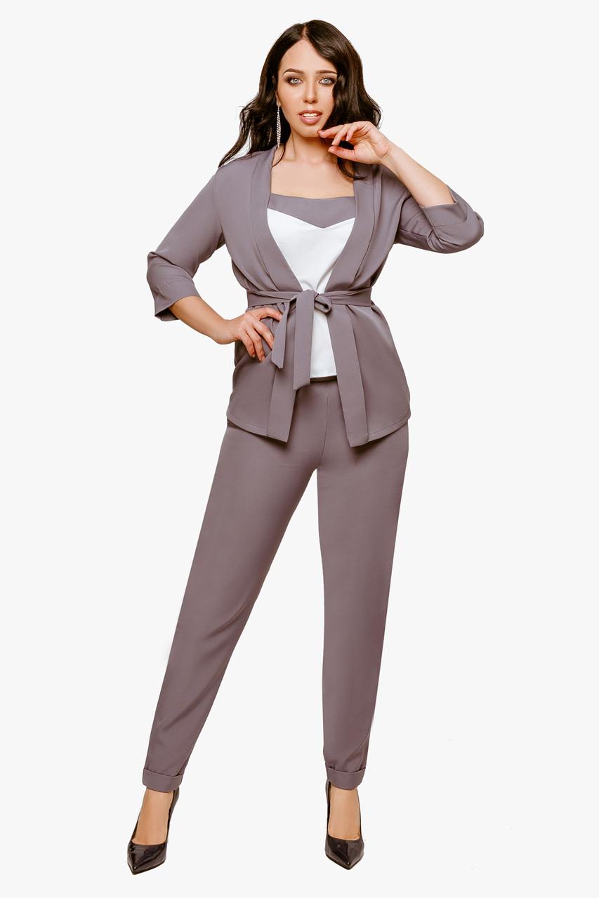 Женский костюм тройка Серый