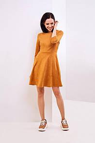 Модное платье из замшевого трикотажа