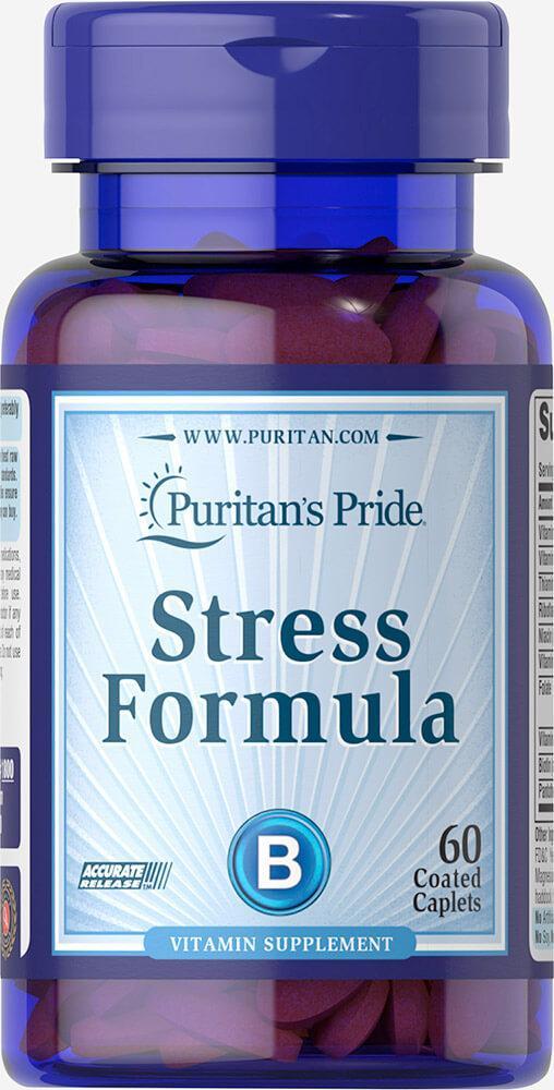 Поддержка нервной системы Puritan's Pride - Stress Formula (60 таблеток)
