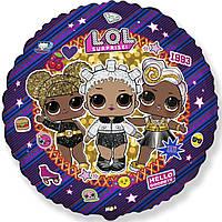 Фольгированный круг куклы Лол с гелием LOL