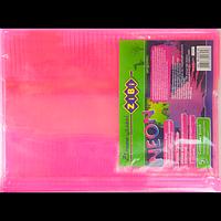Обкладинка для підручника NEON з клапаном 250*420мм, PVC, рожева, фото 1
