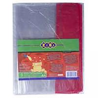 Обкладинки для зошитів, прозорі з кольоровими полями, фото 1