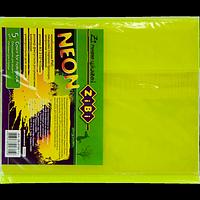 Обкладинка для зошитів NEON А5 з клапаном, PVC, жовта, фото 1