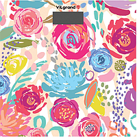 Весы напольные электронные на 180 кг, 28х28 (flowers) ViLgrand VFS-1828_Flowers