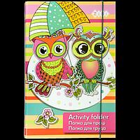 """Папка для праці """"OWLS"""", картонна, на гумках А4+"""