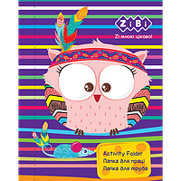 Папка для праці FRIENDLY OWL, картонна, на гумках А4+ (300х212х28мм), KIDS Line