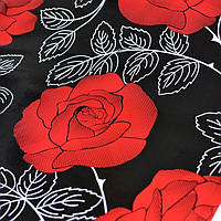 Самоклейка, черный, роза, Patifix, 45 cm