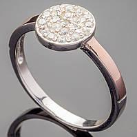 Серебряное кольцо с золотыми напайками Лия