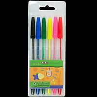 Набір із 6-х кулькових ручок, 6 кол.