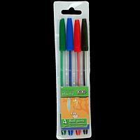 Набір із 4-х кулькових ручок, 4 кол.