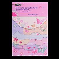 """Заготовка для листівок """"Butterfly"""" 10.2*15.3см"""
