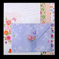 """Заготівля для листівок з кольоровими конвертами """"Charm"""" 10.5*14.8 см"""