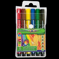 Фломастери, 6 кольорів, JUMBO