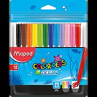 Фломастери COLOR PEPS Ocean, 12 кольорів