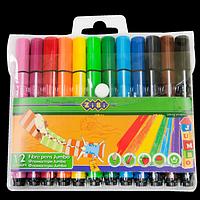 Фломастери, 12 кольорів, JUMBO