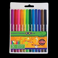 Фломастери, 12 кольорів