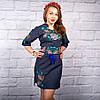 """Жіноча сукня з вишивкою """"Ружа"""" на синьому фоні, фото 2"""