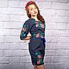 """Жіноча сукня з вишивкою """"Ружа"""" на синьому фоні, фото 4"""