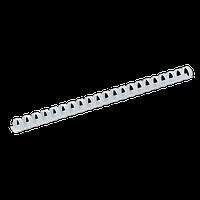Пластикові пружини круглі d 16мм, білий, 120арк., А4, 100 шт.