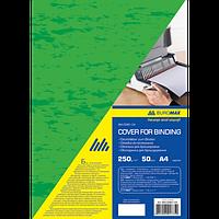 """Обкладинка картонна """"під шкіру"""" А4, 250г/м2, (50шт./уп.), зелений"""