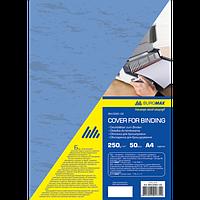 """Обкладинки картонна """"під шкіру"""" А4, 250г/м2, (50шт./уп.), синій"""