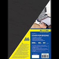 """Обкладинка картонна """"під шкіру"""" А4, 250г/м2, (50шт./уп.), чорний"""