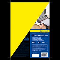 "Обкладинка картонна ""глянець"" А4 250г/м2, (20 шт./уп.), жовтий"