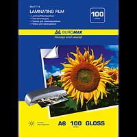 Плівка для ламінування глянсова 100 мкм, A6 (111x154мм), 100 шт.