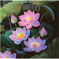 Весы напольные электронные до 180 кг, с термометром; 30х30 (lotus) ViLgrand VFS-1832_Lotus