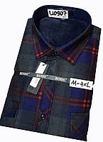 Теплая рубашка на флисе Bendu classik - 907