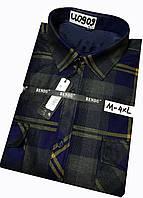 Теплая рубашка на флисе Bendu classik - 909