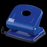 Діркопробивач металевий BUROMAX, 30 аркушів, синій