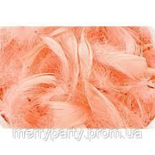 Перья коралловые 12 г/ упак. (длина 5-10 см,≈150 шт.) натуральные для декора и воздушных шаров