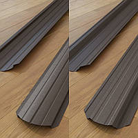 Штакетник Темно-коричневый  Китай  двухсторонний рал 8019 мат 0,45 мм