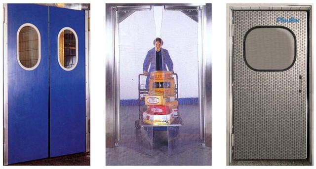 Промышленные двери :маятниковые, распашные, холодильные раздвижные, навесные.