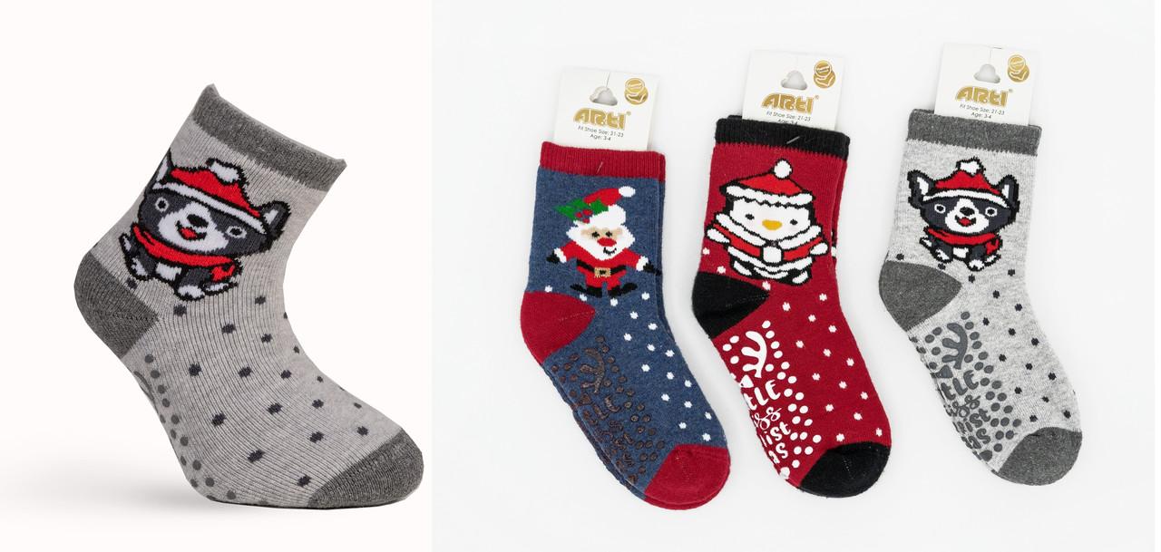 Махровые носки с тормозами 1-2, 3-4, 5-6 лет, ТМ Katamino Турция оптом