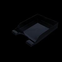 """Лоток пластиковий горизонтальний """"Симетрія"""", чорний"""
