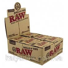 >Бумага для самокруток рулон RAW Masterpiece 3m + TIPS