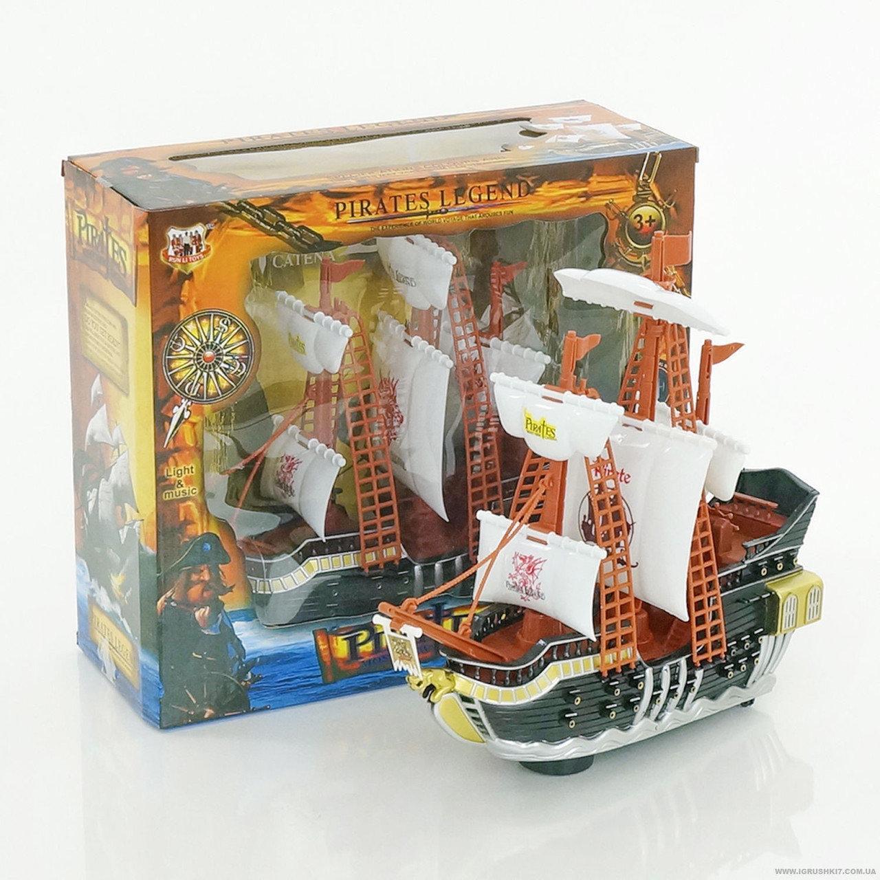 """Игровой набор """"Пиратский корабль"""" 351-1, со светом и музыкой"""