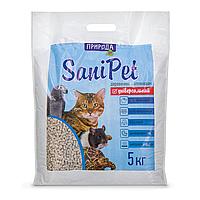 Гигиенический наполнитель Природа Sani Pet «Универсальный» 5 кг (древесный)