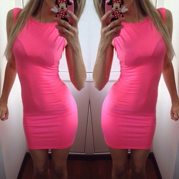 Купить розовое мини платье